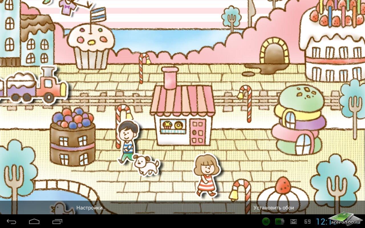 Живые обои Sweets Shop LiveWallpaper