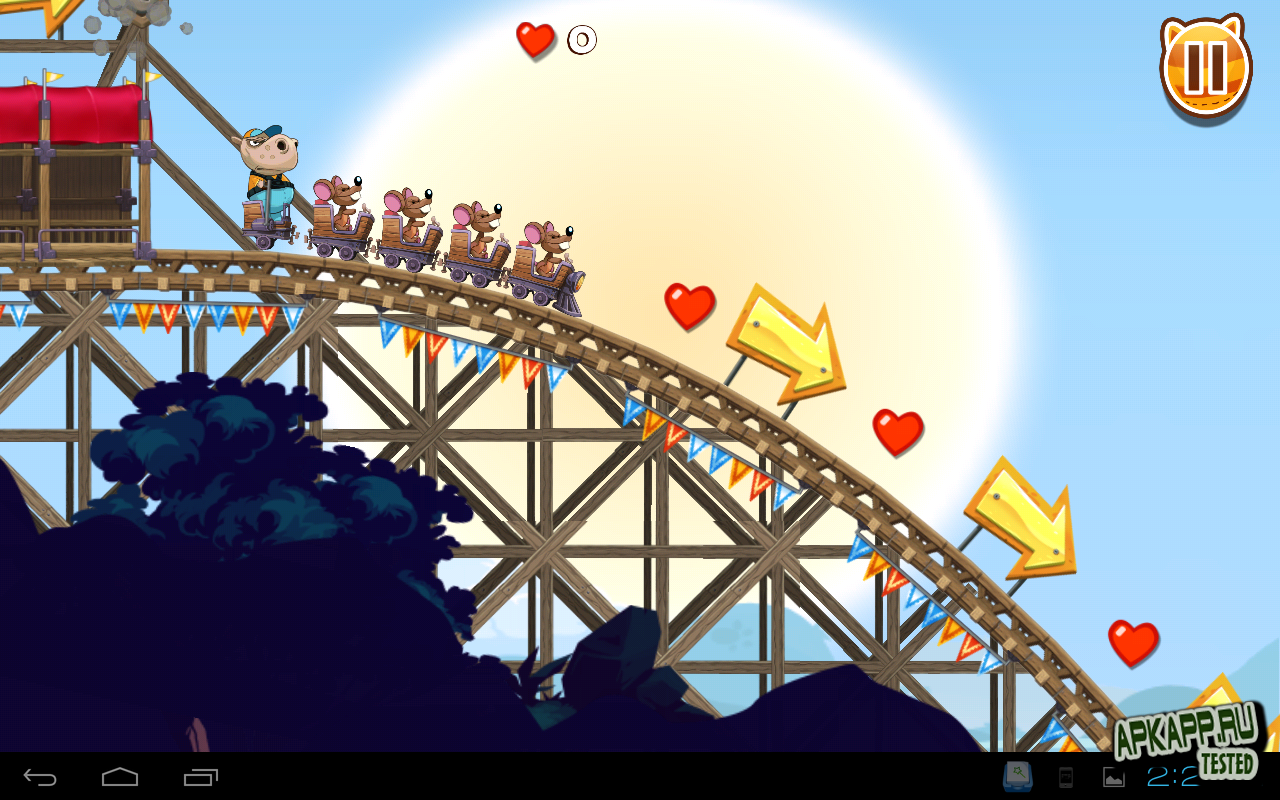 Игра «Nutty Fluffies Rollercoaster»