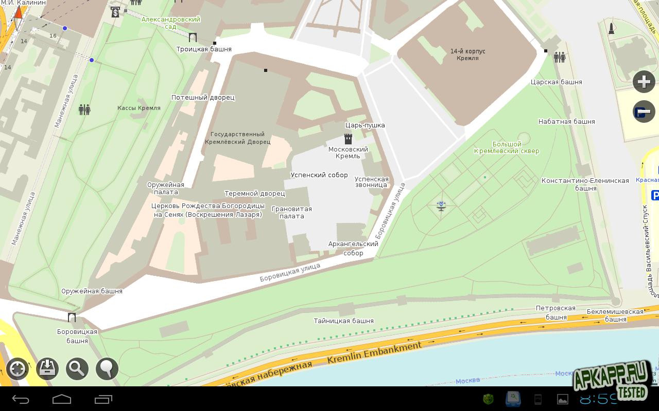 Оффлайн карты Maps.Me