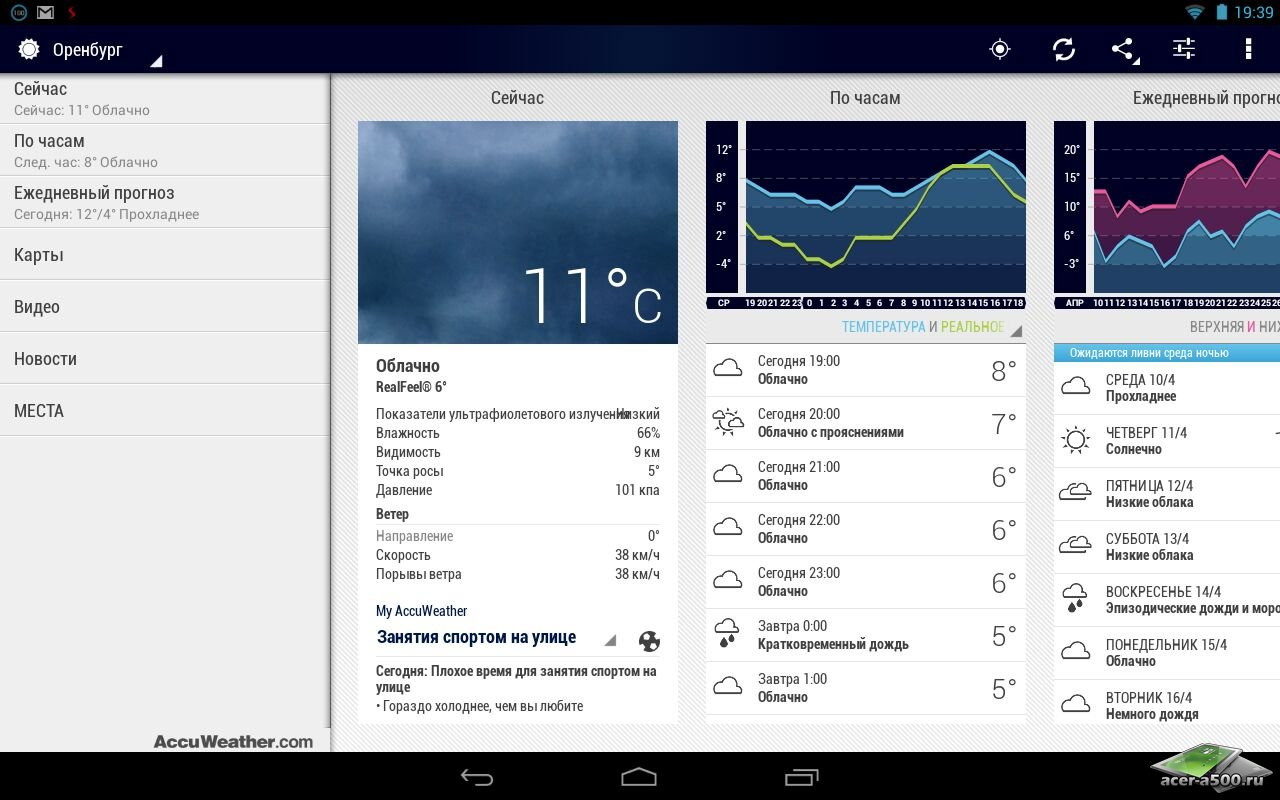 "Приложение ""AccuWeather Platinum"""