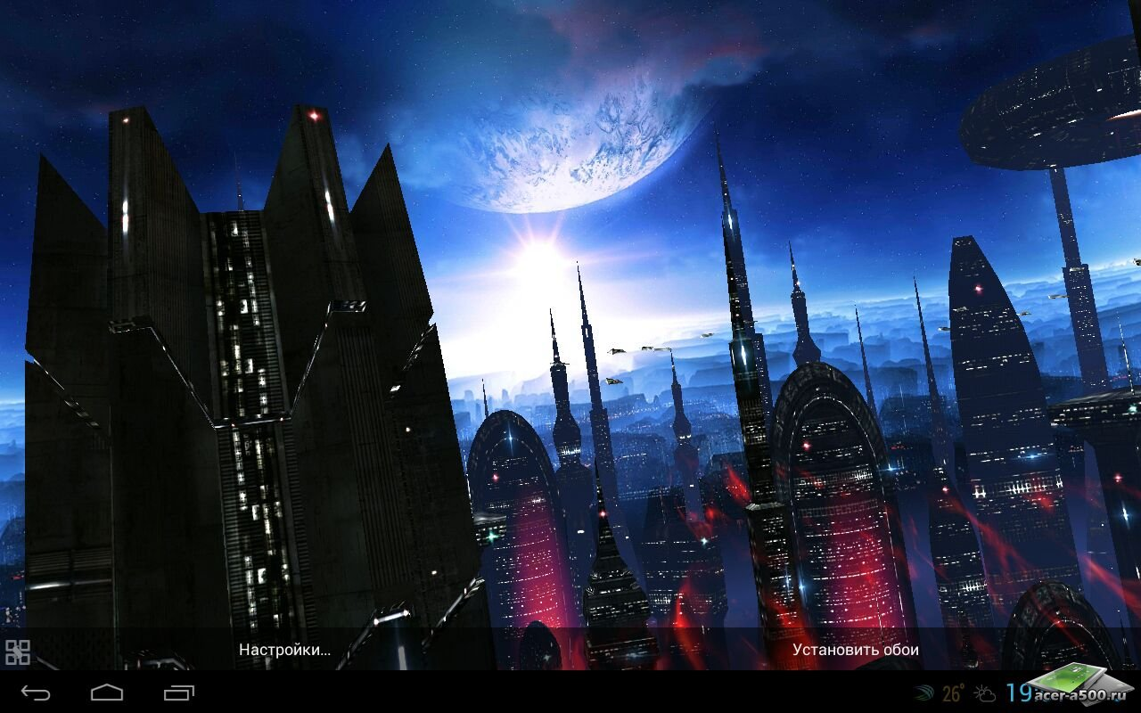 Живые обои «Space Colony»