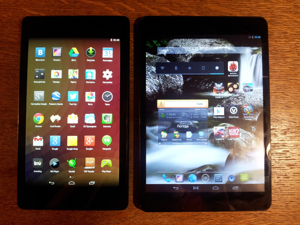 Turbopad 704 - Сравнение с Nexus 7 (2013)