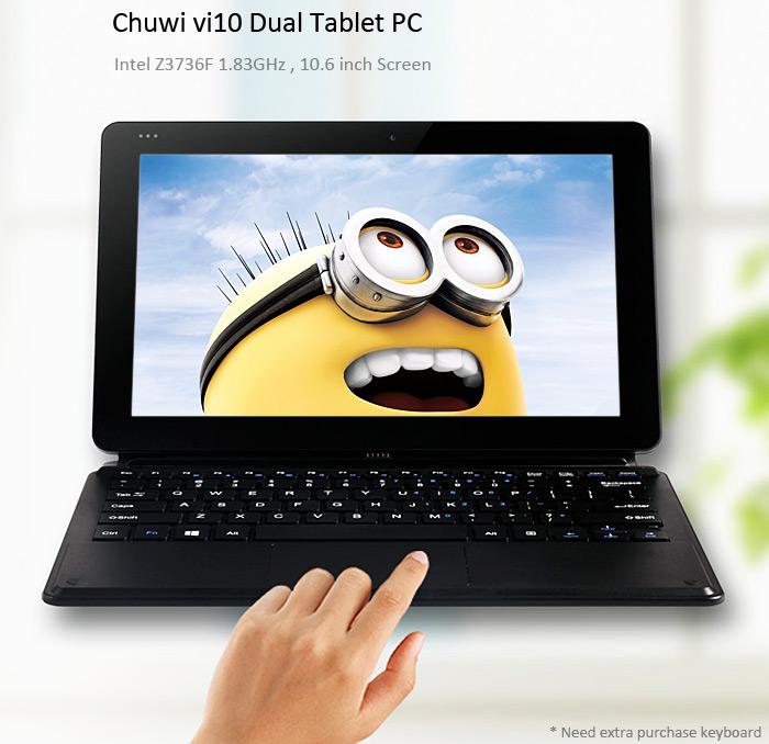 Поступил в продажу планшет Chuwi Vi10 с двумя ОС