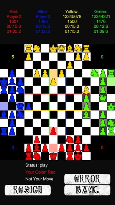 Шахматы на четверых на Андроид