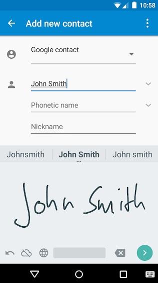 Google: Рукописный ввод на Андроид