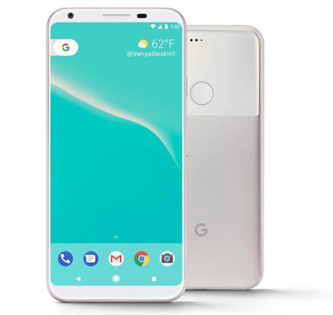 Google Pixel 2 экран