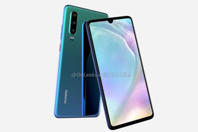 Huawei P30 экран