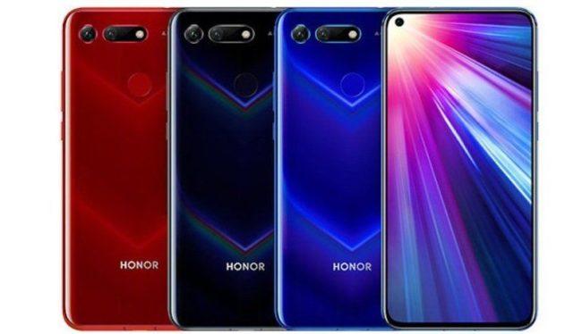 Huawei Honor View 20 цвета