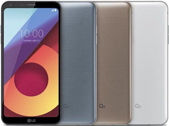 LG Q6 цвета