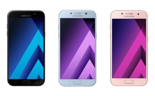 Samsung Galaxy A7 цвета