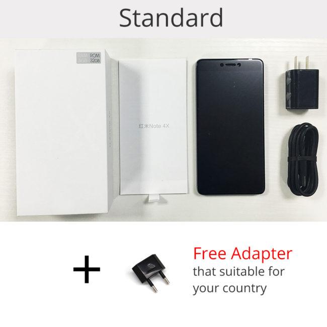 Xiaomi Redmi Note 4X комплект поставки