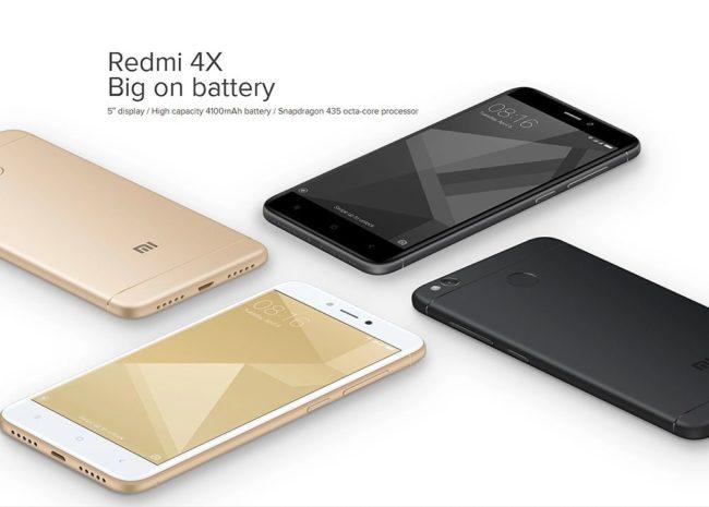 смартфонXiaomi RedMi 4X