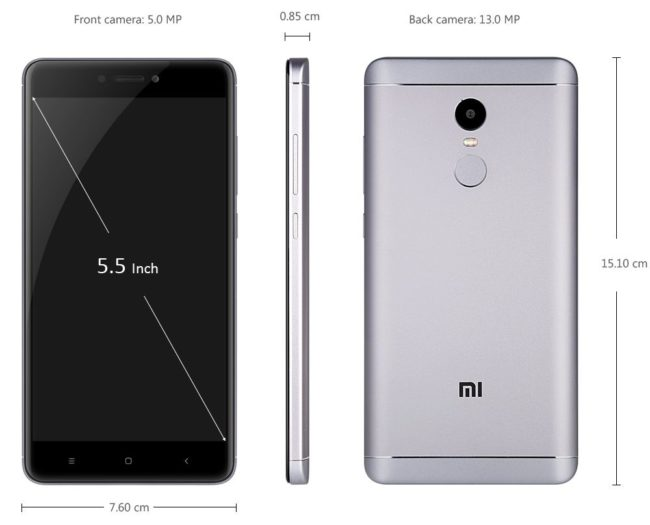 Xiaomi Redmi Note 4X характеристики