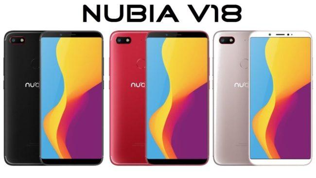 телефон ZTE Nubia V18