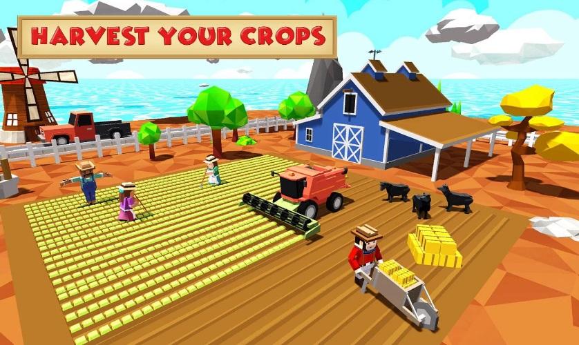 Блочный симулятор: фермер на ПК