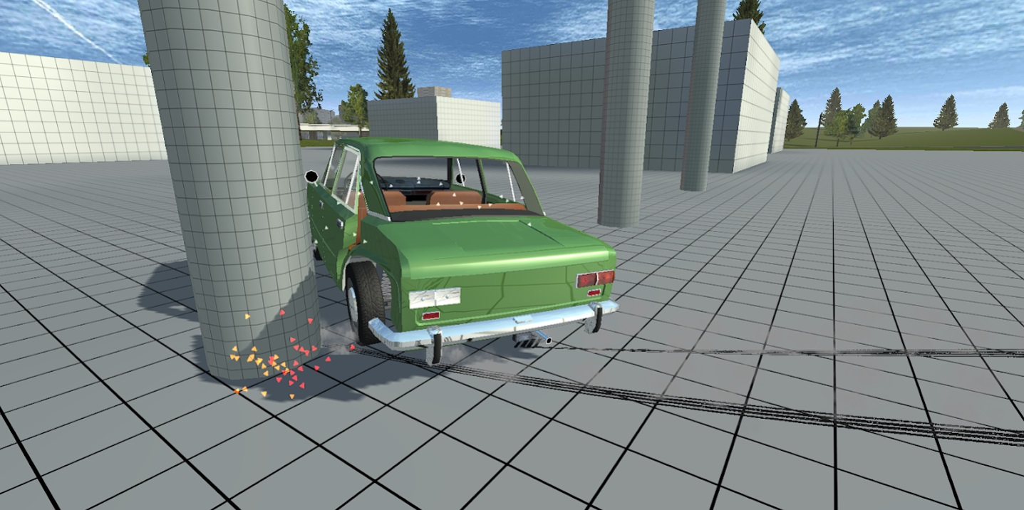 Simple Car Crash Physics Simulator на Андроид