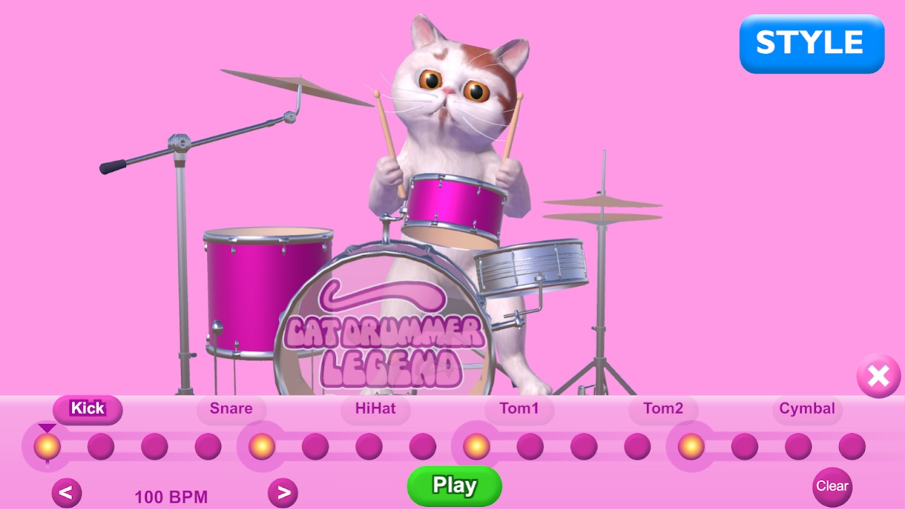 Cat Drummer Legend - Toy на Андроид