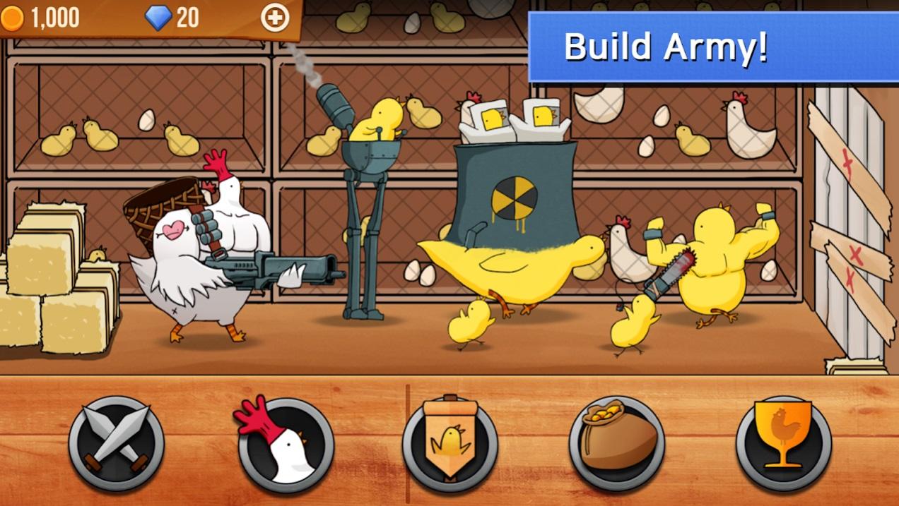 Chicken VS Man на Андроид