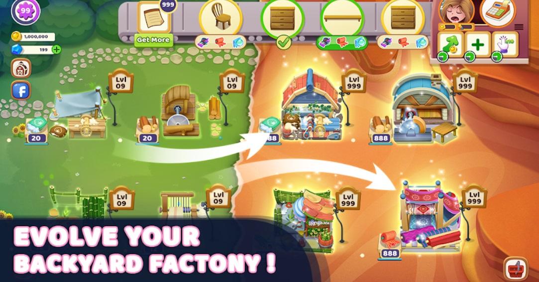 Craftory - Idle Factory & Home Design на Андроид