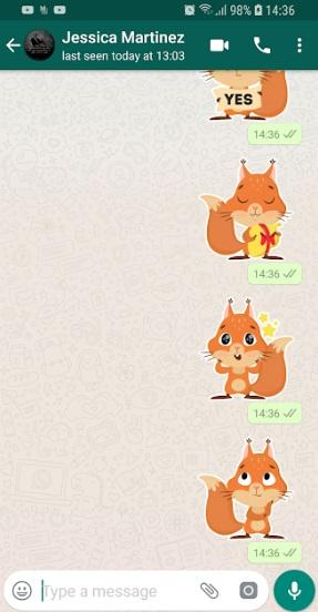 Cute Squirrel Stickers на Андроид