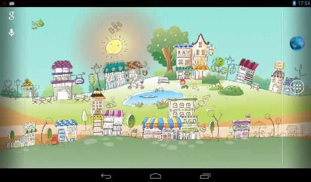 Нарисованный город - Живые обои на Андроид