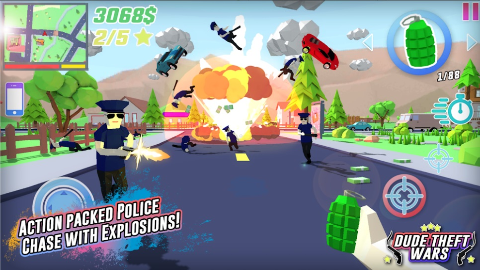 Dude Theft Wars: Open World Sandbox Simulator на Андроид
