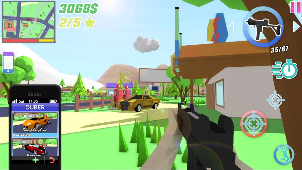 Dude Theft Wars: Open World Sandbox Simulator на ПК