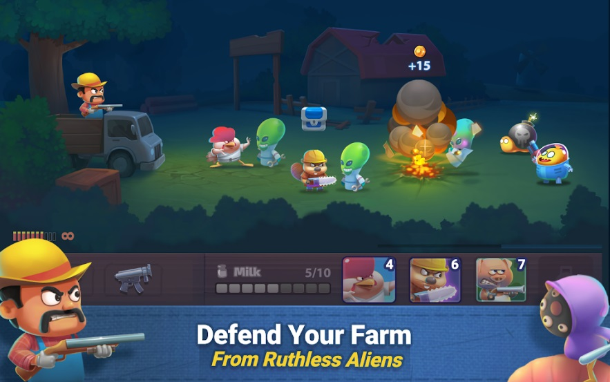 Farm Guns: Alien Clash на Андроид