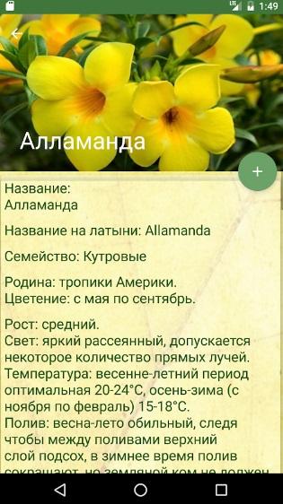 Цветочный помощник на Андроид