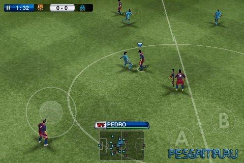 Симулятор футбола PES 2011 Pro Evolution Soccer для планшетов на Android