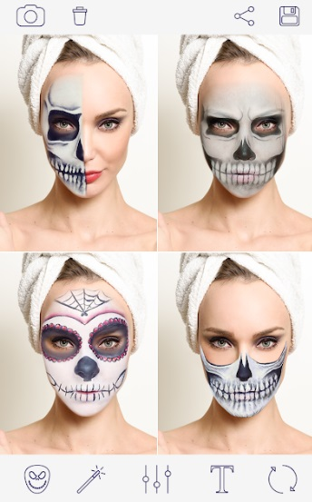 Макияж на Хэллоуин. Страшное Фото. Halloween Makeup на Андроид
