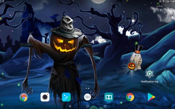 Таинственный Хэллоуин - Живые Обои на Андроид