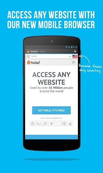 Hola VPN на Андроид