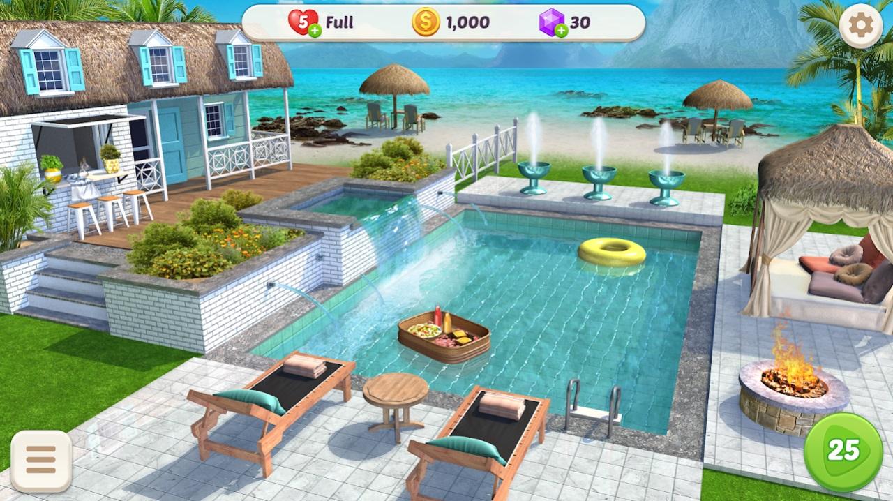 Home Design: Гавайская жизнь на Андроид