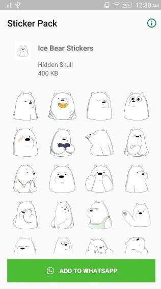 Ice Bear Sticker for WhatsApp на Андроид