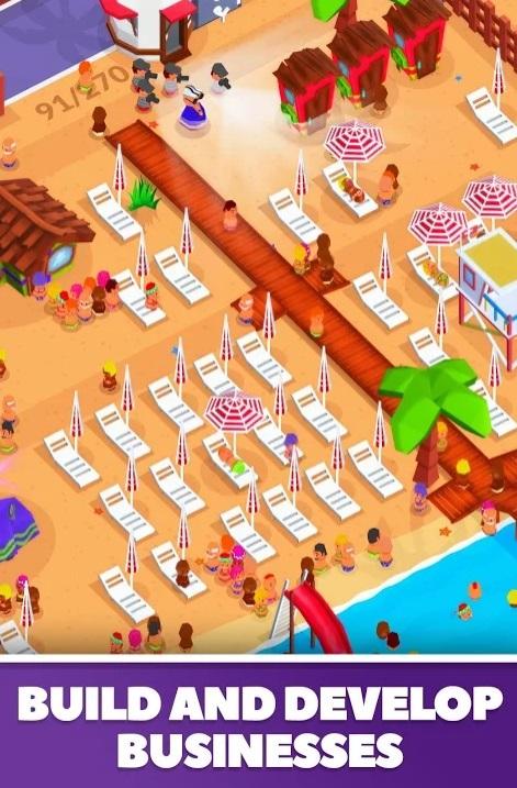 DIdle Beach Tycoon на Андроид