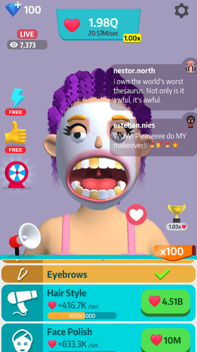 Idle Makeover на Андроид