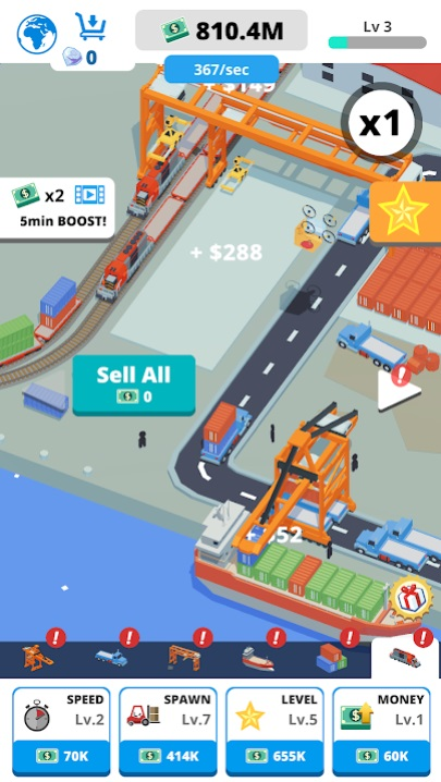 Idle Port Tycoon на Андроид