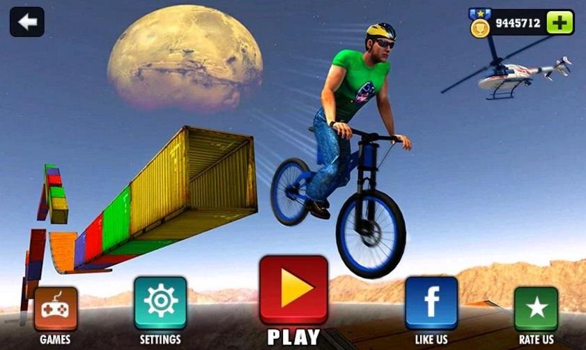 Невозможные велосипедные трюки на Андроид