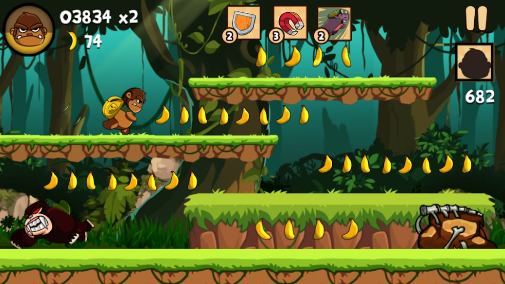 Kong Rush: Banana Run на Андроид