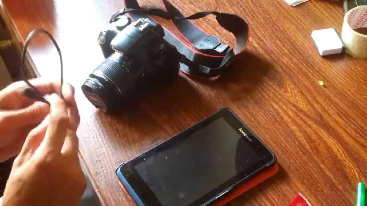Как перекинуть фото с фотоаппарата на планшет?