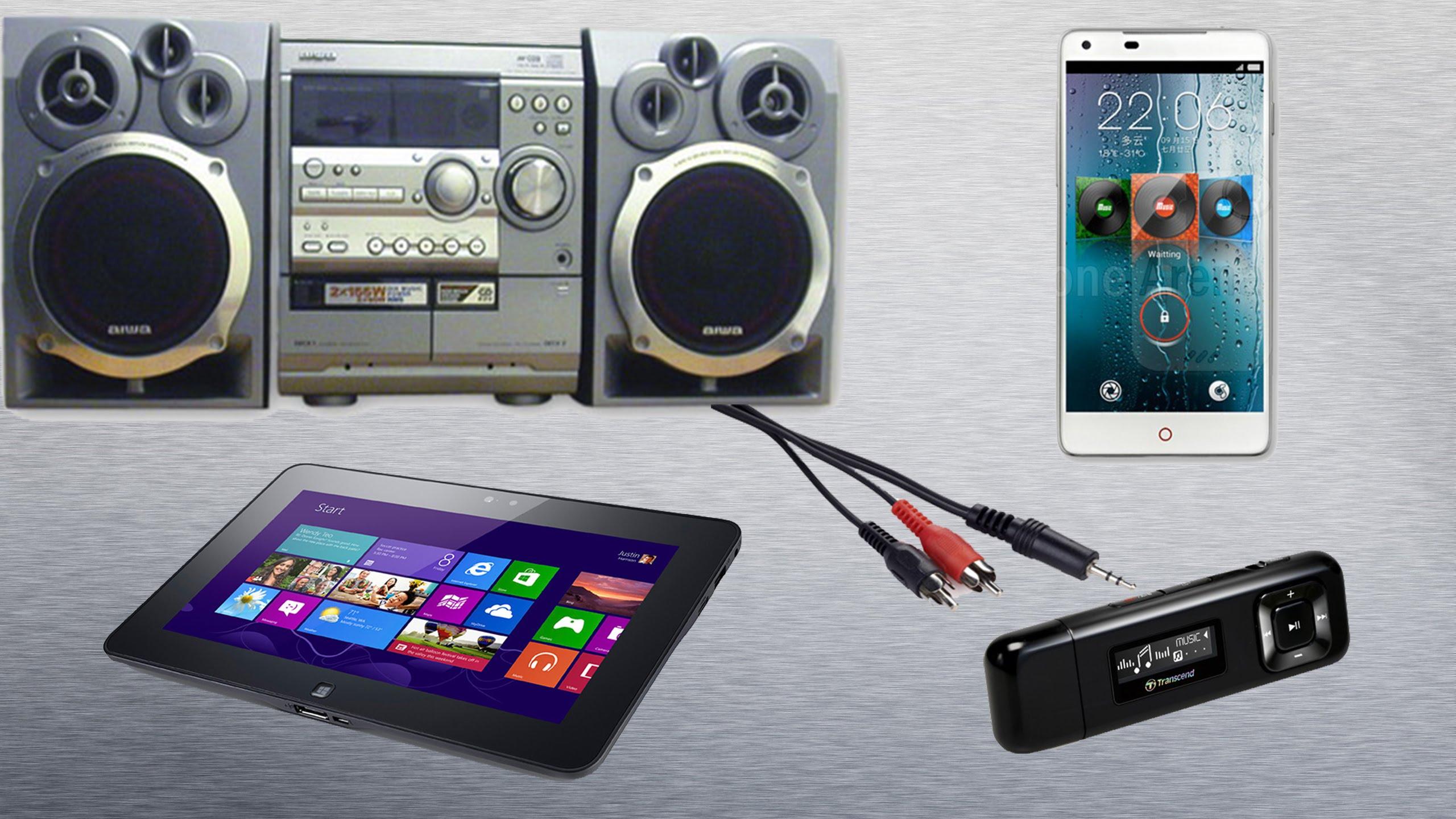 Как подключить планшет к музыкальному центру?