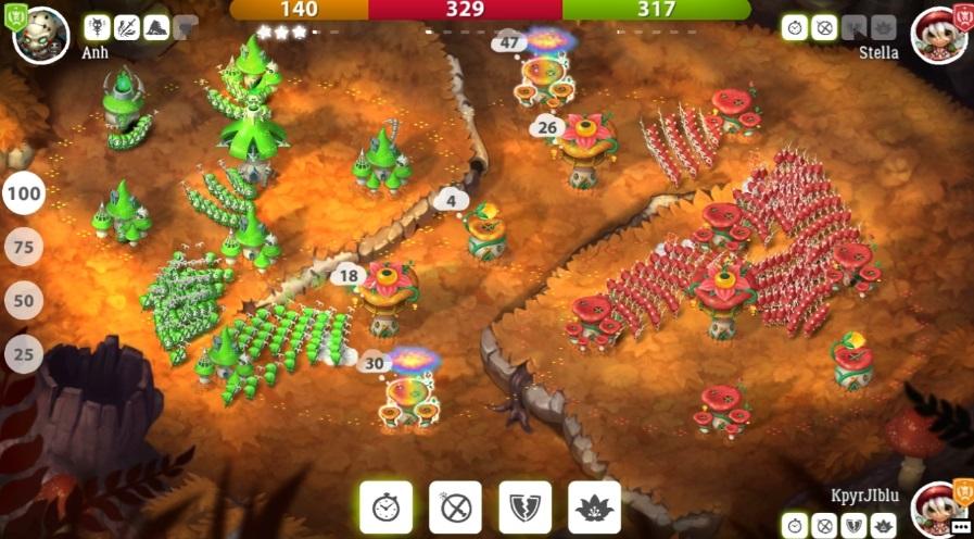 Mushroom Wars 2 на Андроид