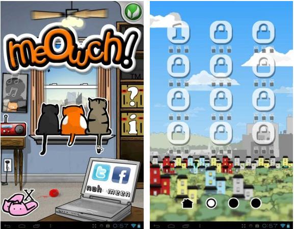 "Игра ""Meowch!"" для планшетов на Android"