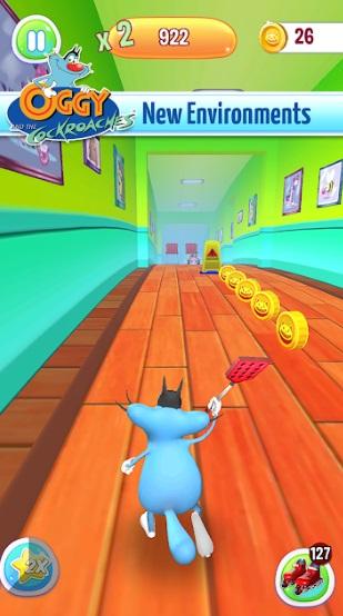 Oggy 3D Run на Андроид