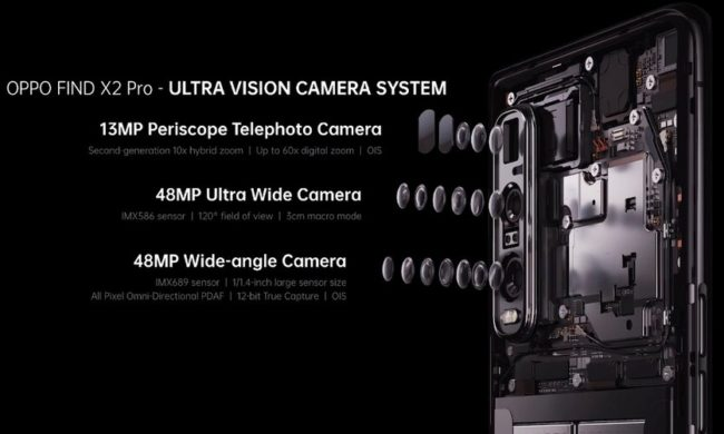 oppo find x2 камеры