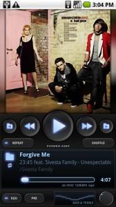 Музыкальный прогрыватель Power Amp для планшетов на Android