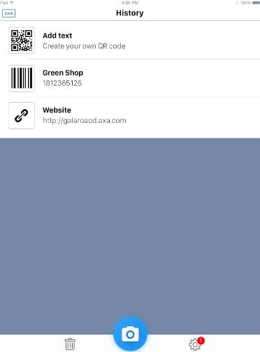 QR код - сканер штрих кодов на Андроид