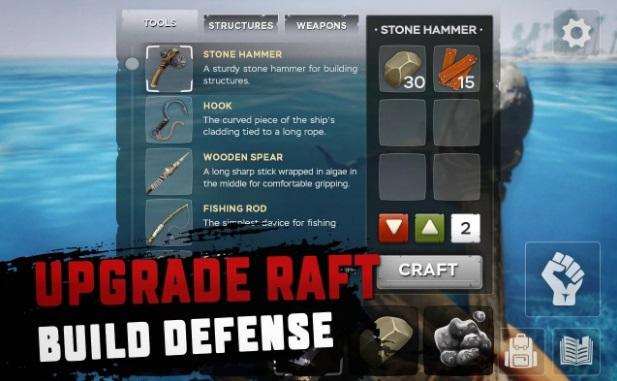 RAFT: выживание на плоту на ПК