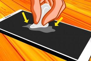 Как убрать, удалить царапины на планшете?